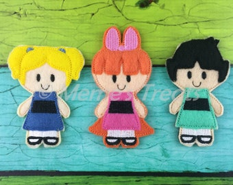 Set of 3 Finger Puppets - Inspired by children's TV show and books