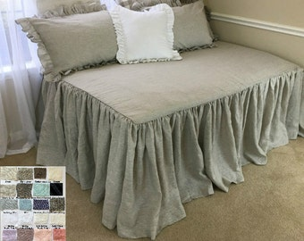 daybed cover daybed bedding fitted daybed cover daybed cover set natural linen - Daybed Cover Sets