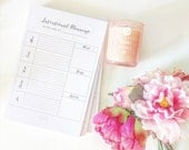Intentional Planning Weekly Planner 2017 Notepad | Mind Body Spirit | Goals | Self Care | Check In | Daily | List | Planner