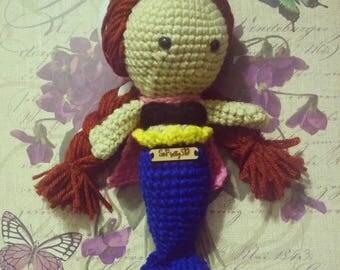 Crocheted Anna (Frozen) Inspired Mermaid Amigurumi! FREE SHIPPING too!