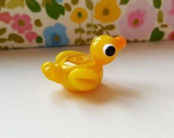 Lampwork Duck - Rubber Duck - Duck Bead - Glass Duck - Lampwork Glass - Glass Beads - Handmade Duck Bead - Rubber Duck Bead - Yellow Duck