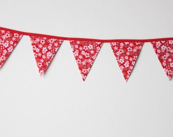 Japanese Cherry Blossom Mini Fabric Bunting