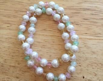 Pearl and Jewel Bracelets