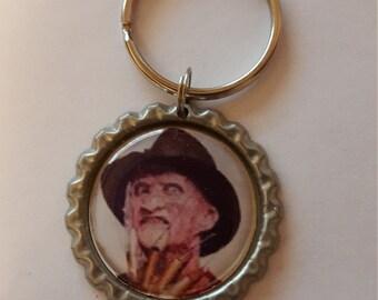 "Handmade bottlecap keychain - Horror Movies - Freddy from ""Nightmare on Elm street"""