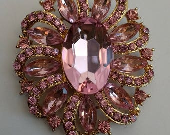 Stunning Pink Sparkly Brooch.....UK