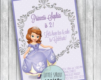 Princess Sophia Personalized Birthday Invitation