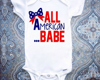 Fourth Of July Onesie, First Fourth Of July Onesie, Baby Girl Clothing