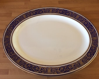 Royal Doulton Imperial Blue china Serving Plate-collectable.