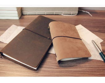 Tan Brown Colour in 100% Genuine Leather Notebook With 96 Pages, Bullet Journal, Travel Journal, Sketch Book.