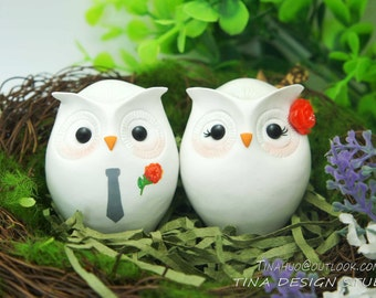 owl wedding cake toppers for sale owl cake topper etsy 18102