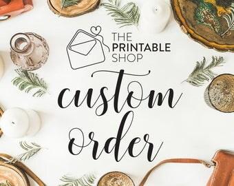 Invitation Suite & Custom Watercolour for Hannah