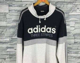 90s Adidas Trefoil Sweater - Adidas Trefoil - Adidas Sweaters - Men's Argyle Sweater - Adidas 50/50 - 1352 fDvZcTVHXb