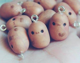 Kawaii Derp Potaoes charms - Polymer clay charm jewelry