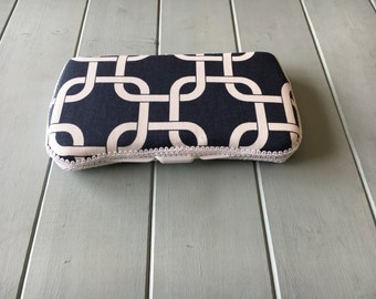 Squares on Navy, Wipe Case, Wipes Case, Wipes Holder, Baby Wipe Case, Travel Wipe Case, Baby Wipes Case, Diaper Bag, Baby Gift, Babyshower