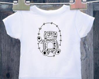 Hippie Bear Toddler Shirt