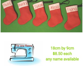 Mini personalized christmas stockings