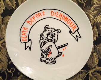 Death Before Dishonour - decorative plate