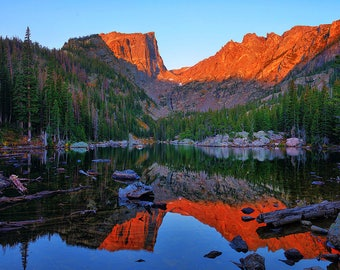 Rocky Mountain National Park - Dawn at Dream Lake Fine Art Giclee Print, Colorado Rockies, Wall Art, Modern Wall Art For Any Home Decor