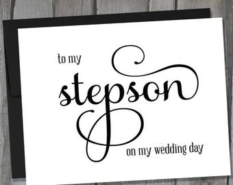 Gift For Stepson On Wedding Day : To My Stepson On My Wedding Day Card Wedding Day Notecards Buy 3 ...