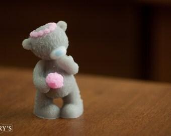 Soap Teddy in a wreath, Kid's soap, soap, gift for her, gift for girlfriend, gift for women, gift for girl, homemade soap, handmade Soap