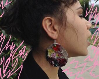 Paint Color Palette Organic Earrings