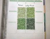 Lucky Charm Glitter Headers- Erin Condren Vertical/Horizontal Happy Planner smc Inserts Travelers Notebook TN