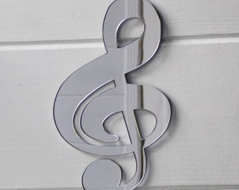 Music Note - Treble Clef Acrylic Mirror