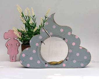 Whale Piggy Bank Wooden Animal Coin Banks Baby Showers Gifts