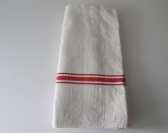 Vintage French Linen Tea Towel. French Linen Torchon. Kitchen Towel.