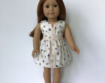 American Girl Doll Floral Dress with Lace detail