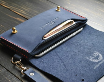 Personalized iPhone leather case Travel Wallet  Leather clutch Cardholder Wallet purse for iPhone 5/6/7 Cardholder organizer leather purse