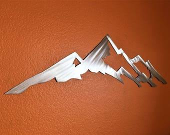 Wall art / Home Decor / Modern Wall Hanging / Mount Yale / Colorado 14er / Metal wall art / Aluminum / Wall Decor / Metal wall sculpture 3ft
