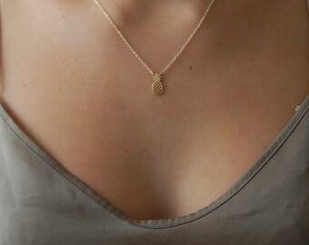 Anna necklace - little gold pineapple pendant