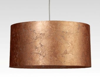Lampshade, D.40 cm, copper-leaf-character