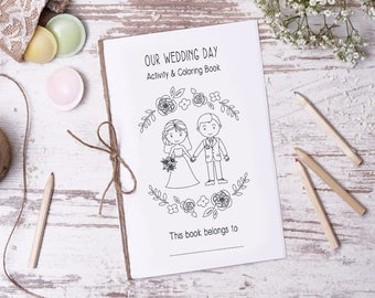 Wedding Coloring Book PDF Pretty Guest Gift