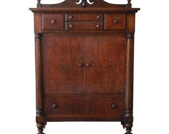 SOLD - Antique Walnut Chest of Drawers / Vintage Highboy Dresser