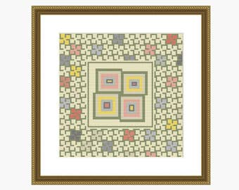 Cross Stitch Pattern, Modern cross stitch, ABSTRACT cross stitch chart - Instant downloadable PDF