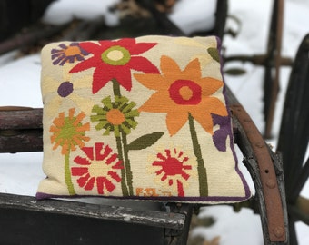 Handmade Needle Point Pillow