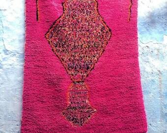 "BOUCHEROUITE RUG | Moroccan Rug | Vintage Rug | Rag Rug | Tapestry | Art | 6'8"" ft x 4'2"" ft"