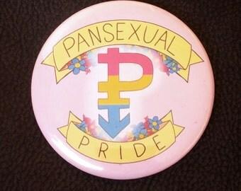 "Pansexual LGBTQ Pride 2.25"" Pinback buttons"