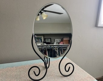 Vintage desk mirror stand boutique shop mirror