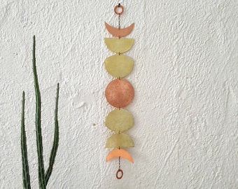 Lunar Wall Hanging - Brass and Copper Moon Phase Wall Art