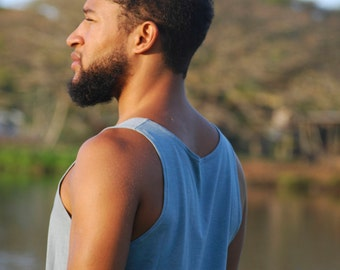 Men's Tank Top - Organic Cotton Soy Spandex Jersey - Available in Several Colors - Organic Clothing
