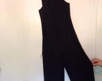 Women's vintage black jumpsuit