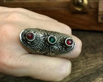 Tribal ring, Bedouin ring, very old, rare kuchi womens tribal ring, hippie ring, ethnic ring US Size 6