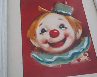 Diane Dengel Baby Clown Painting Original Oil on Board