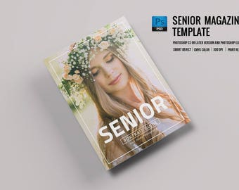 Senior Photography Magazine Template | Welcome Guide | Photoshop Template | INSTANT DOWNLOAD