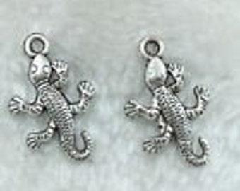 Silver Charms Lizard Gecko Reptile x15