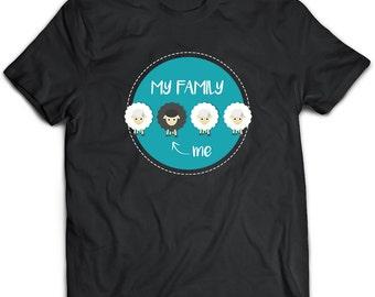 Black Sheep T-Shirt. Black Sheep tee present. Black Sheep tshirt gift idea. - Proudly Made in the USA!