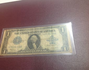 1923 silver dollar certificate